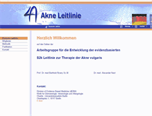 Tablet Preview of akne-leitlinie.de